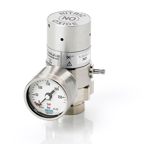 Nitric oxide pressure regulator DIN 477-1 no. 14
