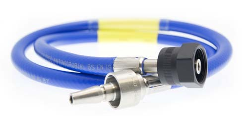 Hose Assembly - N2O - 1m - NIST to BS5682 Probe
